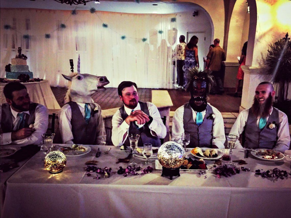 Hipster wedding party