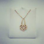 Celtic infinity heart pendant
